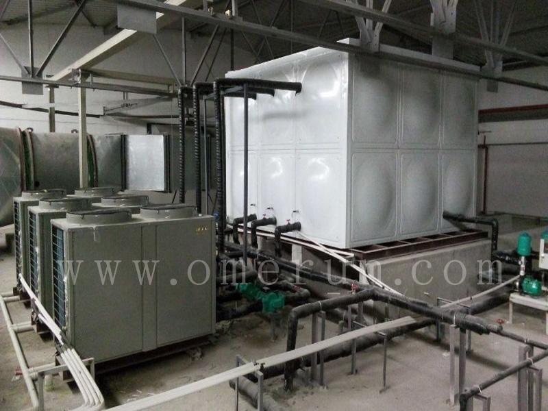 贺无锡地铁西漳车辆段18吨空气源热水系统竣工